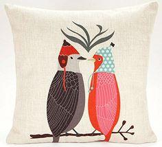 Caryko Home Decor Cotton Linen Square Pillow Case Cushion Cover (Love Bird) Caryko http://www.amazon.com/dp/B00ZIYBUKC/ref=cm_sw_r_pi_dp_0zWEvb0H2Z2ZD