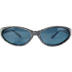 Aaron sunglasses ($119) ❤ liked on Polyvore featuring accessories, eyewear, sunglasses, swarovski crystal sunglasses and checkered sunglasses