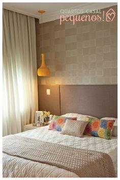Dicas para quartos de casal pequenos #diy #papeldeparede #cabeceira
