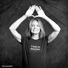 ❥ Gloria Steinem...pretty sure she has not affiliation with Jay Z's record label. Not to mention the hideous shirt she is so proud of...