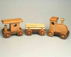 wooden toy train For Block play
