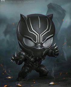 HeroChan — Chibi Black Panther Created by Surasak Jaipuk Black Panther Marvel, Black Panther Art, Chibi Marvel, Marvel Dc Comics, Marvel Heroes, Marvel Avengers, Avengers Series, Black Panthers, Hulk