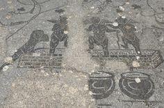 Minturnes, une ville antique oubliée sur la Via Appia - Mosaïque du caldarium - Ancient Rome, Ancient History, Appian Way, History Encyclopedia, Cupid, Fresco, Baths, City Photo, Roman
