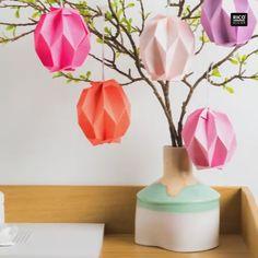 Grafische Ostereier falten Super modern and not difficult: simply fold graphic origami easter eggs y Diy Origami, Origami Tutorial, Origami Paper, Origami Instructions, Origami Fashion, Origami Butterfly, Origami Flowers, Modern Garden Design, Ppr
