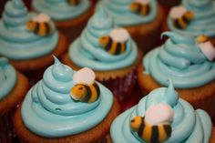 From my son's first birthday party-  it was a Winnie the Pooh theme.  Bzzzzzz.
