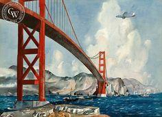 Golden Gate Passage, c. 1950's, art by Millard Sheets – California Watercolor