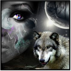 pictures of wolf spirits and princesses | An art collage from May 2012