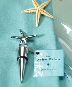 Beach Wedding Favors - Starfish Bottle Stoppers Beach Theme Wedding Invitations, Wedding Favors For Guests, Beach Wedding Favors, Bridal Shower Favors, Beach Weddings, Unique Wedding Favors, Destination Wedding, Wedding Themes, Wedding Decorations