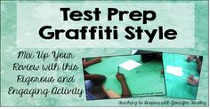 Test Prep: Graffiti Style - Teaching with Jennifer Findley Reading Test, Reading Workshop, Sixth Grade Math, Academic Writing Services, Graffiti Styles, Too Cool For School, Test Prep, Teaching Kids, A Team