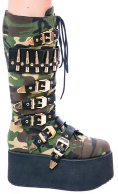 Privileged Bully Platform Buckle Boot | Dolls Kill