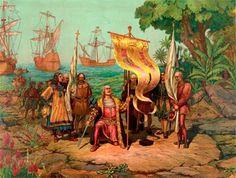 Na noite de 3 de Agosto de 1492, Cristóvão Colombo, ao serviço dos Reis Católicos de Espanha, parte do porto andaluz de Palos, com três navios: a nau Santa Maria e as caravelas Pinta e Santa Clara. O objectivo era atingir a Índia. Todavia alcançará o continente americano a 12 de Outubro de 1492. Alguns historiadores consideram que Colombo era natural de Cuba, no Alentejo, e não genovês.