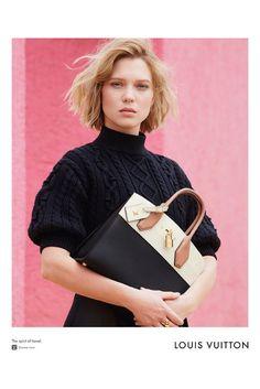 Lea Seydoux for Louis Vuitton Spirit of Travel 2016 by Patrick Demarchelier.