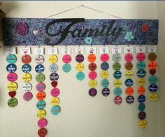 A way to remember birthday dates.  Love the idea and colors!