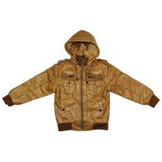 manteau garçon fourré camel et existe en 2 couleurs