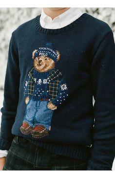 Baby Boy Fashion, Mens Fashion, Ralph Lauren Boys, Preppy Style, Beautiful Dresses, Winter Fashion, Graphic Sweatshirt, Mens Winter, Teddybear