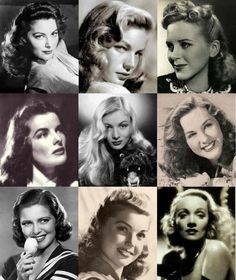 Hairdos,of the 1940 stars. Guess who...