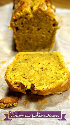 Recette de cake moelleux, au potimarron et aux noisettes.