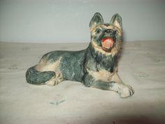 Enesco Ceramic German Shepherd Kathy Wise Figurine 1986