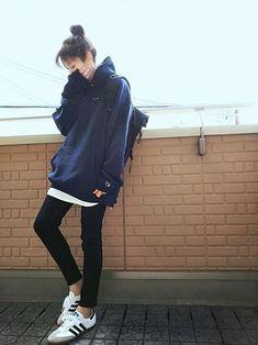 Pin on Tomboy Outfits Korean Girl Fashion, Korean Fashion Trends, Ulzzang Fashion, Tomboy Fashion, Japanese Fashion, Asian Fashion, Tomboy Outfits, Teen Fashion Outfits, Cute Casual Outfits