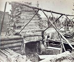 February 19 Abandoned camp of 9th Army Corps near Falmouth, Va -- http://dotcw.com/abandoned-winter-quarters/