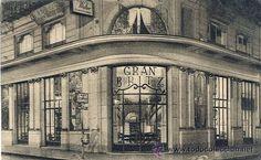 Fotos de la Sevilla del Ayer  (VI) - Grand Britz café en los bajos del edificio que Anibal Gonzalez terminó de construir en 1917 en la esquina de las calles Tetuán y Rioja
