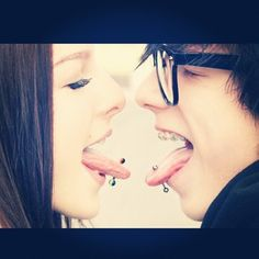 tongue piercings I would never get it done but this picture is cute #cute #piercings #tongue