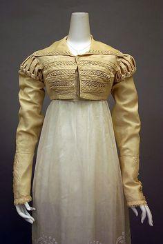 Ensemble, 1820-25, British, silk & cotton, Metropolitan Museum of Art