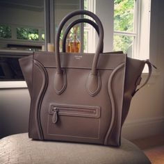 Celine Mini Luggage Taupe / Grey Spring 2012