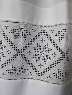 Made by Inger Johanne Wilde Hardanger Embroidery, Cross Stitch Embroidery, Hand Embroidery, Ancient Persia, Paper Snowflakes, Brazilian Embroidery, Cutwork, Woven Fabric, Crochet Top