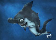 Hammer Head Shark Speed paint by ~2BeanSoup.