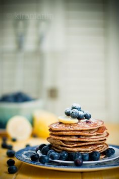 Blueberry Lemon Pancakes /