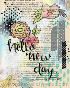 """Hello New Day Print by Makewells on Etsy 8"""" x 10"""""""