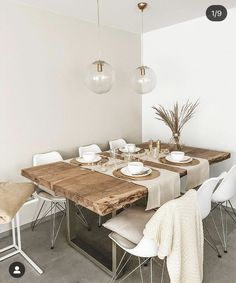 Home Decor Bedroom, Living Room Decor, Ideas Hogar, Dining Room Inspiration, Dining Room Design, Dining Rooms, Minimalist Home, House Rooms, Home And Living