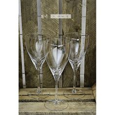Clear Glass Handmade Wine Glasses set of 6