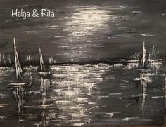 cm original acrylic abstract painting on canvas Rita & Helga wall decor Painting Abstract, Sailing, Wall Decor, Paintings, The Originals, Canvas, Modern, Movie Posters, Candle