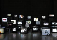 Douglas Gordon Pretty Much every film and video work from 1992 until now Space Photography, Photography Projects, Projection Installation, Douglas Gordon, Pie In The Sky, Video Wall, Art Archive, Exhibition Space, Art Images