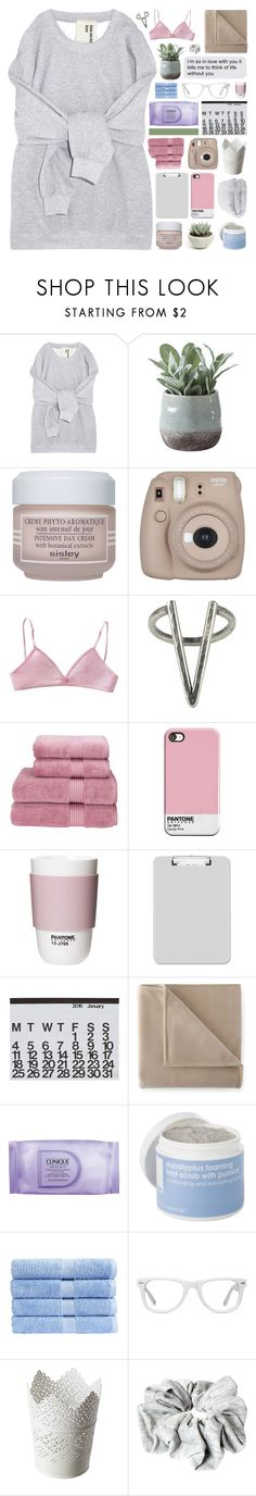 """""""collision course."""" by other-flying ❤ liked on Polyvore featuring Torre & Tagus, Sisley Paris, The 2 Bandits, Christy, ROOM COPENHAGEN, Crate and Barrel, Martex, Clinique, Lather and Muse"""