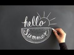 チョークレタリングで夏を楽しむ(大人黒板チョークアートchalkart:chalklettering)