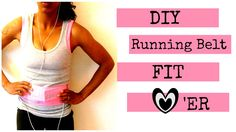 DIY running belt with no zipper! Heck yeah, I'm doing this for a lot less $$$ than a Hip Sister or Flip Belt would cost!