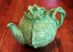 """Lettuce ware"" ceramic teapot made by Dodie Thayer. (Bruce R. Bennett/The Palm Beach Post)"