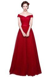 G Marry Size 8 Off Shoulder Long Prom Dress 76% off!