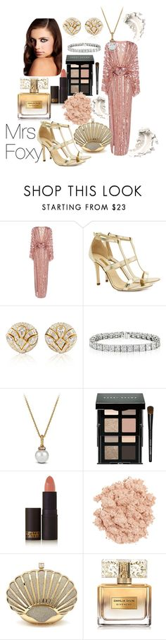 """""""Untitled #134"""" by mrsfoxy ❤ liked on Polyvore featuring Elie Saab, Dee Keller, Blue Nile, David Yurman, Bobbi Brown Cosmetics, Lipstick Queen, Illamasqua and Givenchy"""