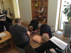 Jenny and Anne practising CPR on Annie. Visit www.infinitybludental.co.uk to keep up to date with our News.