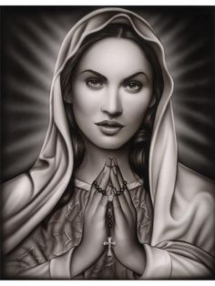 Praying Mary by Spider Virgin Mary Lady of Guadalupe Fine Art Print