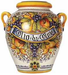 so beautiful...I love the colors & shape of this urn...