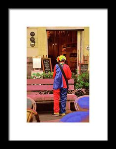 The rest of the clown, a city vision, art print, fine art fotography, framed for sale in fine arts America, photography by mallorcacolors