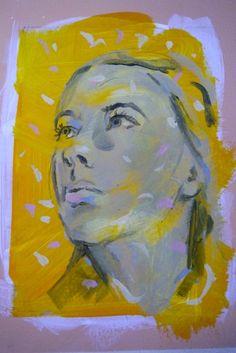 New Blood Art | Portrait Study by Peter Monkman | Buy Original Art Online | Artworks by Emerging Artists for Sale