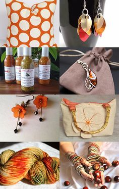 My handbag is featured here: A Gathering of the Oranges by sngalliher on Etsy--Pinned with TreasuryPin.com #purse #handbag #bags #totebag #springpurse #springfashion #womensaccessories #womensfashion #cutepurse #flowers #gifts #giftideas #giftsforher #giftsforwomen #handmade #handmadegifts #pursesandbags #handbagheaven