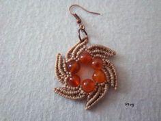 macrame earrings - picture tute