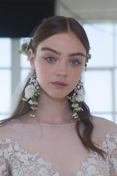 Marchesa Bridal Spring 2017, hair by MOROCCANOIL